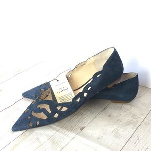 New with some scuffing laser Cutout Zara Flats